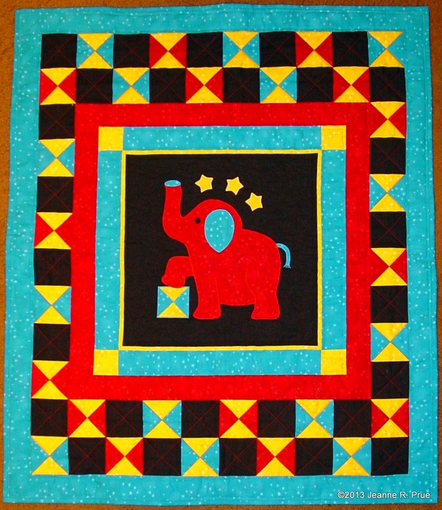 Elephant Quilt for Abe