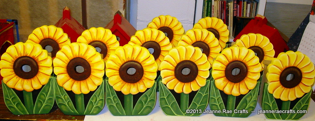 Sunflower birdhouses