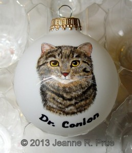Custom cat ornament
