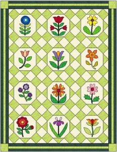 Lattice Garden Quilt, my latest pattern!