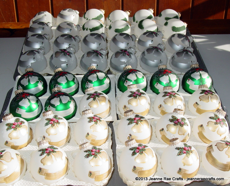 Hand painted glass balls from Jeanne Rae Crafts