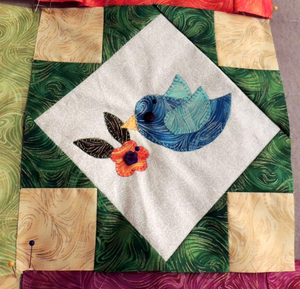 Blue bird block