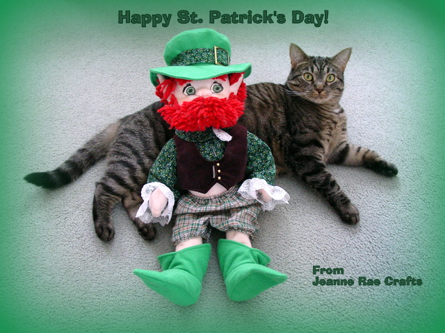 cat & leprechaun