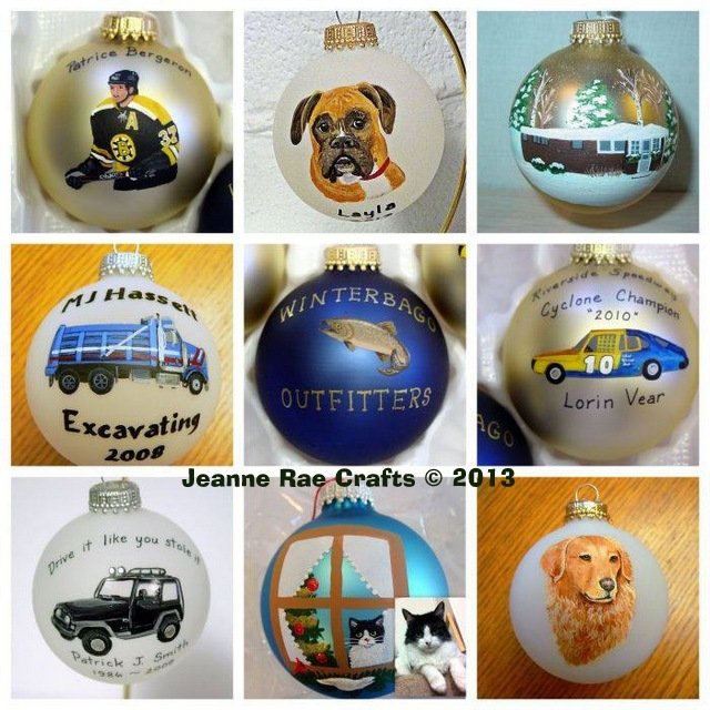 Jeanne Rae Crafts' custom ornaments