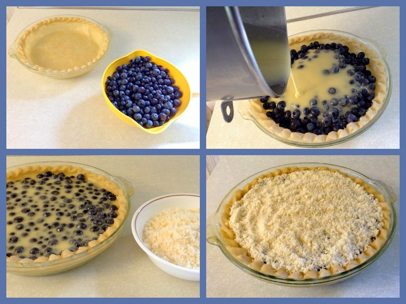 Simple steps to blueberry cream pie