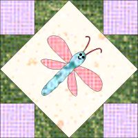 Dragonfly block from the Pixie Garden Quilt
