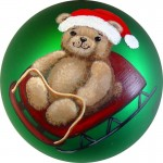 Teddy Bear Sled ornament from Jeanne Rae Crafts