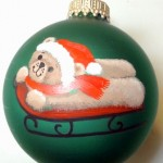 glass ball ornament Jeanne Rae Crafts